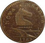 1787 New Jersey copper. Maris 28-S. Rarity-5-. Outlined Shield. EF-40 (PCGS).