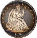 1885 Liberty Seated Half Dollar. Proof-64+ Cameo (PCGS). CAC.