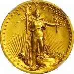 MCMVII (1907) Saint-Gaudens Double Eagle. High Relief. Wire Rim. MS-64 (NGC).