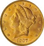 1907-S Liberty Head Double Eagle. MS-64 (PCGS). OGH.