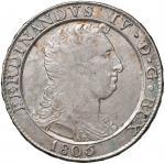 Italian coins;NAPOLI Ferdinando IV (1759-1816) Piastra 1805 - Magliocca 392 AG (g 27.37)  - BB+;150
