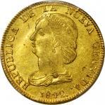 COLOMBIA. 1842-VU 16 Pesos. Popayán mint. Restrepo M212.13. MS-61 (PCGS).