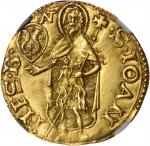 ITALY. Florence. Florin, ND (Second Semester, 1520). Antonio di Guglieme Pazzi. NGC AU-55.