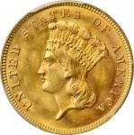 1888 Three-Dollar Gold Piece. MS-66 (PCGS).