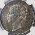 英国 (Great Britain) ヴィクトリア女王像 ヤングヘッド 1クラウン銀貨 1845年 KM741 / Victoria Young Head 1 Crown Silver