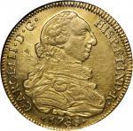CHILE. 8 Escudos, 1788-SoDA. Charles III (1759-88). NGC AU-53.
