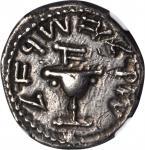 JUDAEA. First Jewish War, A.D. 66-70. AR Shekel (14.10 gms), Year 1 (A.D. 66-67). NGC Ch VF, Strike: