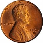 1934-D Lincoln Cent. MS-67 RD (PCGS).