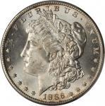 1886-S Morgan Silver Dollar. MS-66 (PCGS).