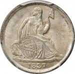 1837 Liberty Seated Half Dime. No Stars. Small Date. MS-65 (PCGS).