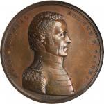 1814 Major General Edmund P. Gaines Medal. Bronze. 65 mm. Julian MI-13. MS-62BN (NGC).