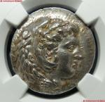 22 (NGC-MS)古希腊大力神头像银币