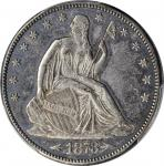 1873-CC Liberty Seated Half Dollar. Arrows. WB-7. Rarity-4. Repunched Date. AU-55 (PCGS).