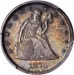 1876 Twenty-Cent Piece. Proof-65 (PCGS).