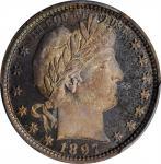 1897 Barber Quarter. Proof-67+ Cameo (PCGS). CAC.