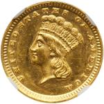 1859-D $1 Gold Indian. NGC MS64