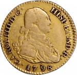COLOMBIA. 1/2 Escudo & Escudo, 1786 & 1798. FINE to VERY FINE.
