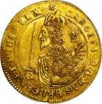 英国查理一世3英镑金币 PCGS AU 55
