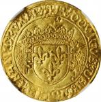 FRANCE. Ecu dOr au porc-epic, ND (1508-13). Lyon Mint; pellet under 12th letter & star under 1st let