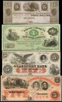 Lot of (7) Obsolete Notes. $1, $3, $5, $10 & $50. About Uncirculated to Uncirculated.