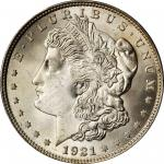 1921 Morgan Silver Dollar. MS-67 (PCGS).