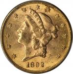 1892-S Liberty Head Double Eagle. MS-62 (PCGS).