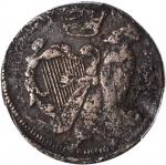 Undated (Circa 1663-1672) St. Patrick Halfpenny. Vlack-Unattributable, W-11540. Copper. Reeded Edge.