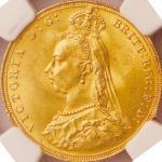 英国 (Great Britain) ヴィクトリア女王像 ジュビリーヘッド 1ソブリン金貨 1887年 KM767 / Victoria Jubilee Head 1 Soverign Gold