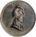 Undated (ca. 1872) Andrew Jackson / The Stern Old Soldier medal. By J.A. Bolen. Silver. Thin Planche