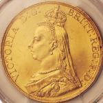 英国 (Great Britain) ヴィクトリア女王像 ジュビリーヘッド 5ポンド金貨 1887年 KM769 / Victoria Jubilee Head 5 Pounds Gold