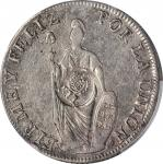 PHILIPPINES. Philippines - Peru. 8 Reales, ND (1834-37). Isabel II. PCGS Genuine--Damage, EF Details