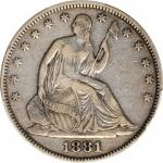 1881 Liberty Seated Half Dollar. WB-101. Type I Reverse. Proof-25 (PCGS).