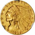 1929 Indian Quarter Eagle. MS-61 (NGC).