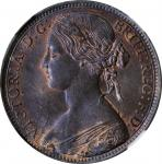 GREAT BRITAIN. Penny, 1861. London Mint. Victoria. NGC MS-64 Brown.