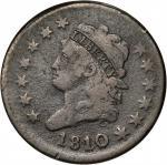 1810/09 Classic Head Cent. S-281. Rarity-1. VG-8 Porous.