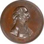 Circa 1816 Halliday medal. Musante GW-57, Baker-70C. Copper, Bronzed. Plain rims. MS-64 (PCGS).