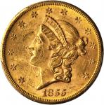 1855-S Liberty Head Double Eagle. MS-61 (PCGS).