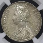 INDIA British India イギリス领インド Rupee 1892B NGC-AU58 EF+