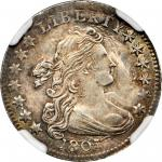 1807 Draped Bust Dime. JR-1, the only known dies. Rarity-1. MS-64 (NGC).