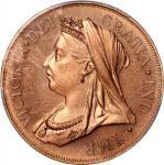 Great Britain, double florin, 1893, FANTASY, (X#84b), PCGS PR65RD, #40690091.