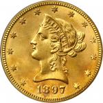 1897-O Liberty Head Eagle. MS-64 (PCGS).