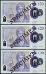 2020年英格兰银行20英镑样票3张 完未流通