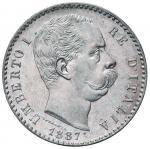 Savoy Coins;Umberto I (1878-1900) 2 Lire 1887 - Nomisma 1001 AG Minimi graffietti sulla guancia al D