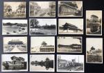 1910-1920年代北京老照片及明信片共14 枚,包括故宫,东陵,骆驼队及外国军队操练等,较少见.