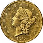 1858-O Liberty Head Double Eagle. MS-63 (NGC).