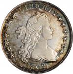 1802/1 Draped Bust Silver Dollar. BB-235, B-9. Rarity-5. Wide Date. VF-30 (PCGS).