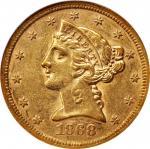 1868-S Liberty Head Half Eagle. AU-53 (NGC).