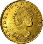 COLOMBIA. 1832/1-UR 8 Escudos. Popayán mint. Restrepo M166.29. AU Detail — Scratch (PCGS).