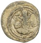 SASANIAN KINGDOM: Shapur II, 309-379, lead 20mm (3.89g), G-type I/6, Sell-type I, SNS—, king s bust