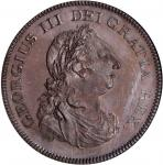IRELAND. Bank of Ireland. 6 Shillings Stuck in Bronzed Copper, 1804. NGC PROOF-64 BN.
